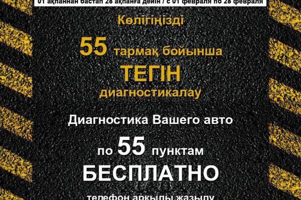 осмотр авто бесплатно по 55 пунктам